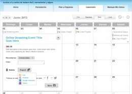 DIRECTV Calendar desktop version