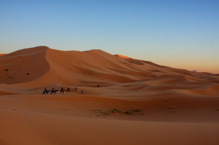 Dunes and Camels in Mergouza