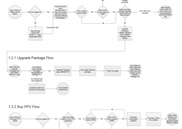 Detailed user flow diagrams