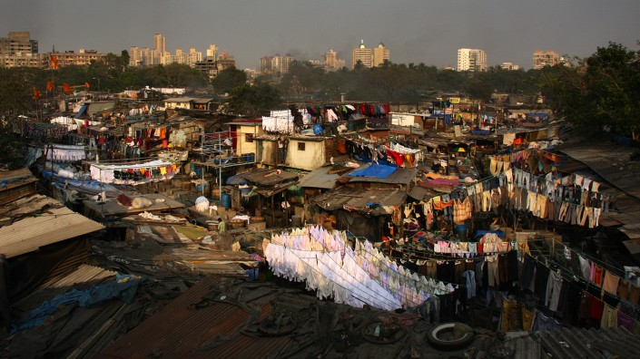Mumbai - Dhobi Ghat clothes washing district
