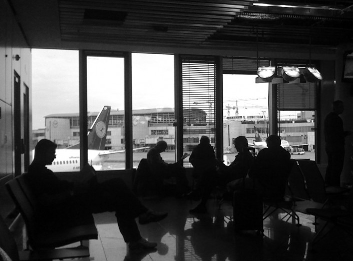 Businessmen at the Frankfurt Airport