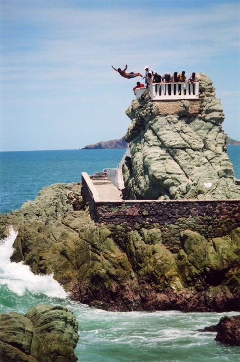 A cliff diver in Mazatlan